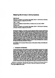 Modeling Bid Arrivals in Online Auctions