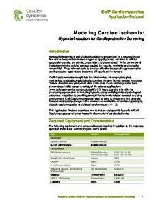 Modeling Cardiac Ischemia: