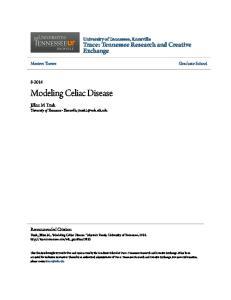 Modeling Celiac Disease