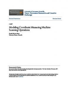 Modeling Coordinate Measuring Machine Scanning Operations