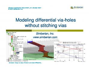 Modeling differential via-holes without stitching vias