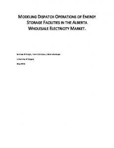 MODELING DISPATCH OPERATIONS OF ENERGY STORAGE FACILITIES IN THE ALBERTA WHOLESALE ELECTRICITY MARKET