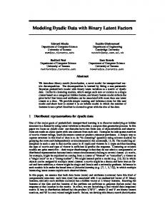 Modeling Dyadic Data with Binary Latent Factors