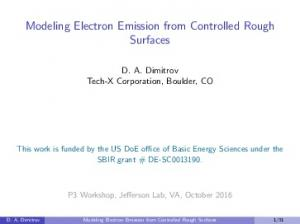 Modeling Electron Emission from Controlled Rough Surfaces