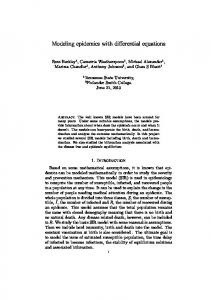Modeling epidemics with differential equations
