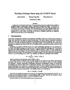 Modeling Exchange Rates using the GARCH Model