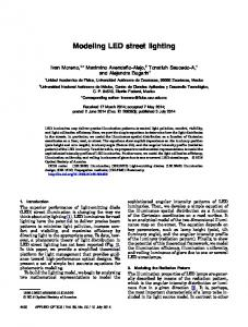 Modeling LED street lighting