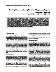Modeling Microwave Drying Kinetics of Sugarcane Bagasse