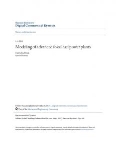 Modeling of advanced fossil fuel power plants