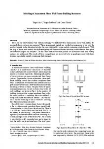 Modeling of Asymmetric Shear Wall-Frame Building Structures