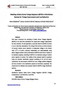 Modeling of Static Series Voltage Regulator (SSVR) in Distribution Systems for Voltage Improvement and Loss Reduction