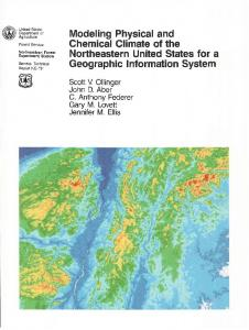 Modeling Physical and Chemical Climate of the Northeastern United States for a Geographic Information System