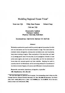 Modeling Regional House Prices