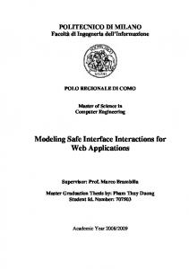 Modeling Safe Interface Interactions for Web Applications