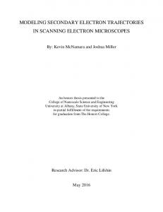 MODELING SECONDARY ELECTRON TRAJECTORIES IN SCANNING ELECTRON MICROSCOPES