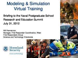 Modeling & Simulation Virtual Training