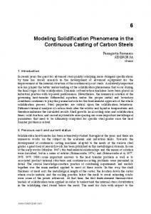 Modeling Solidification Phenomena in the Continuous Casting of Carbon Steels