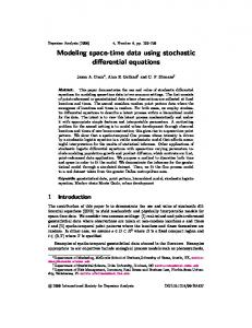Modeling space-time data using stochastic differential equations