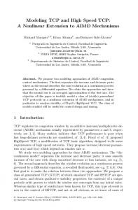 Modeling TCP and High Speed TCP: A Nonlinear Extension to AIMD Mechanisms