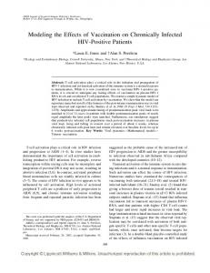 Modeling the Effects of Vaccination on Chronically Infected HIV-Positive Patients
