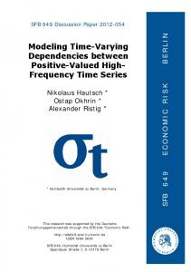 Modeling Time-Varying Dependencies between Positive-Valued High- Frequency Time Series