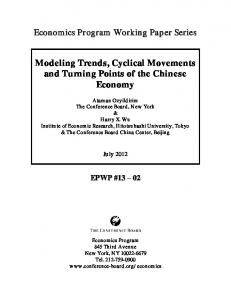 Modeling Trends, Cyclical Movements and Turning Points of the Chinese Economy