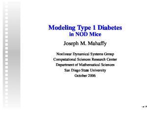 Modeling Type 1 Diabetes