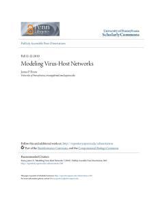 Modeling Virus-Host Networks