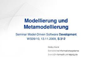 Modellierung und Metamodellierung