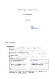 Modellierung und Programmierung