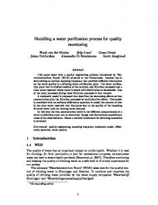 Modelling a water purification process for quality monitoring