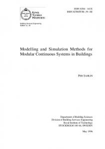 Modelling and Simulation Methods for Modular Continuous Systems in Buildings