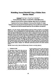 Modelling Annual Rainfall Using a Hidden-State Markov Model