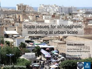 modelling at urban scale
