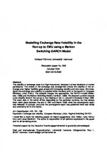 Modelling Exchange Rate Volatility in the Run-up to EMU using a Markov Switching GARCH Model