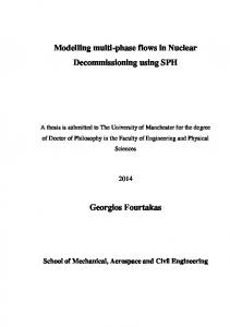Modelling multi-phase flows in Nuclear Decommissioning using SPH