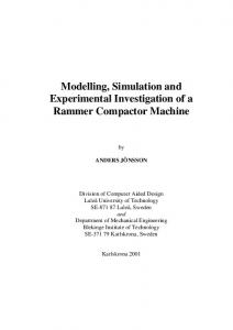 Modelling, Simulation and Experimental Investigation of a Rammer Compactor Machine