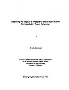Modelling the Impact of Weather Conditions on Active Transportation Travel Behaviour