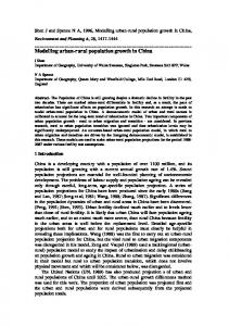 Modelling urban-rural population growth in China