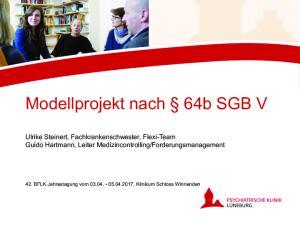 Modellprojekt nach 64b SGB V