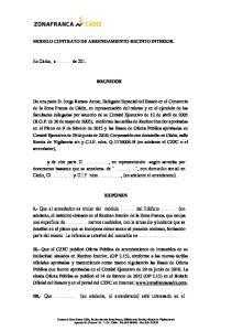 MODELO CONTRATO DE ARRENDAMIENTO RECINTO INTERIOR. REUNIDOS