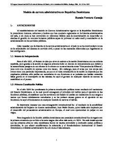 Modelo de carrera administrativa en Republica Dominicana