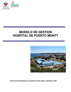 MODELO DE GESTION HOSPITAL DE PUERTO MONTT