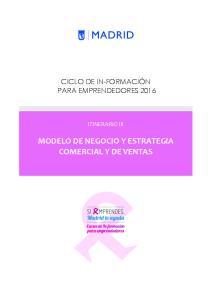 MODELO DE NEGOCIO Y ESTRATEGIA COMERCIAL Y DE VENTAS