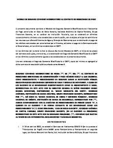MODELO DE SEGUNDO CONVENIO MODIFICATORIO AL CONTRATO DE FIDEICOMISO DE PAGO
