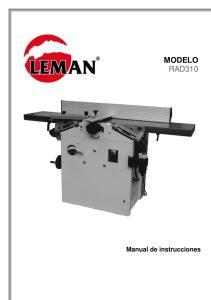 MODELO RAD310. Manual de instrucciones