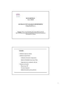 MODELOS CON VARIABLE DEPENDIENTE CUALITATIVA (1)