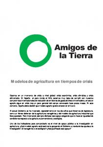 Modelos de agricultura en tiempos de crisis