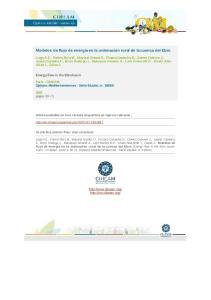 Modelos de flujo de energia en la ordenacion rural de la cuenca del Ebro