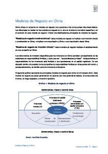 Modelos de Negocio en China